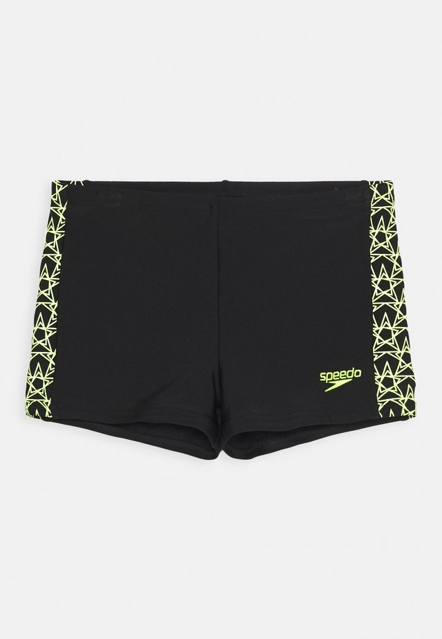 BOOMSTAR SPLICE AQUASHORT - Zwemshorts - black/fluo yellow