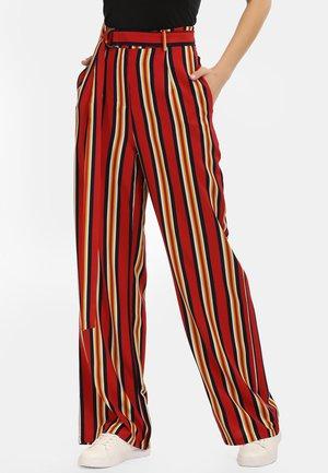 MARLENEHOSE - Kalhoty - multicolor gestreift