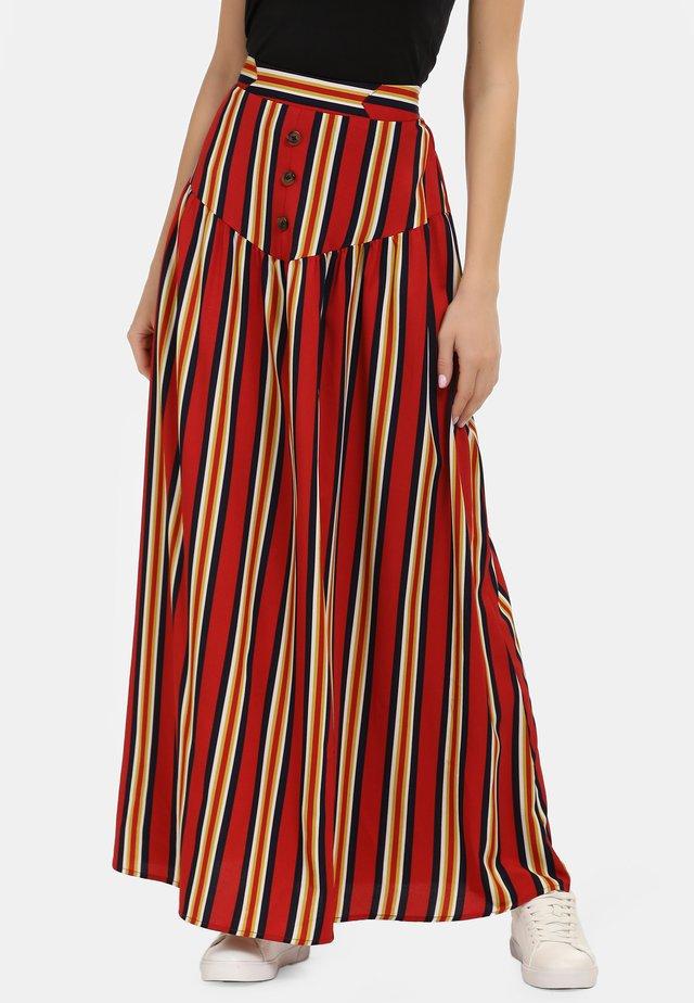 Maxi skirt - multicolor gestreift