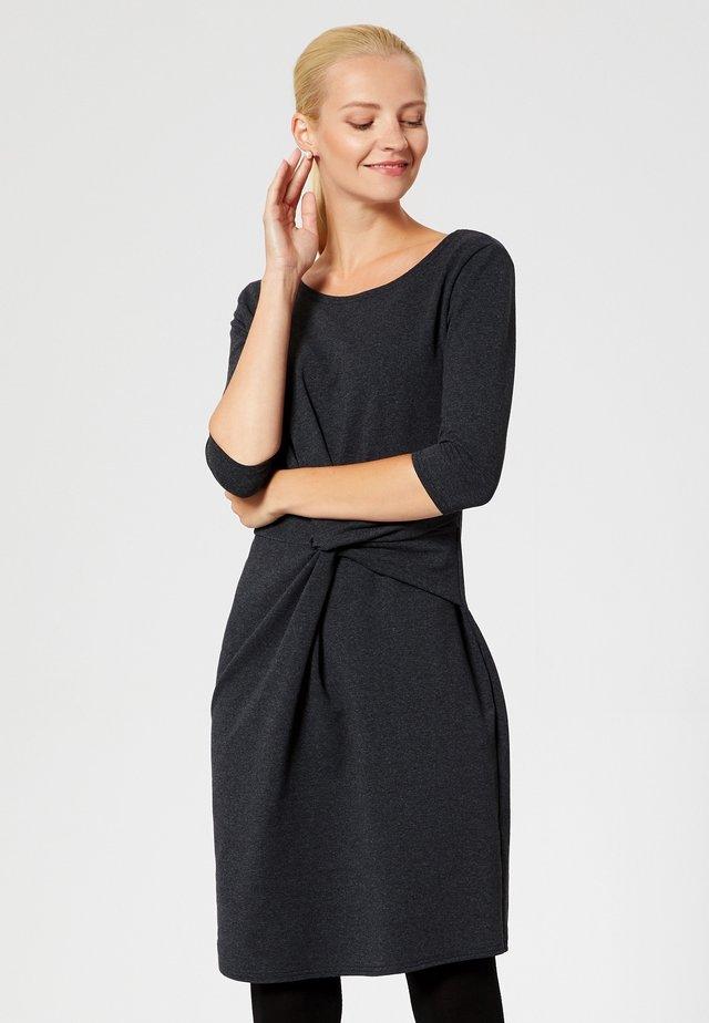 Sukienka z dżerseju - graphit melange