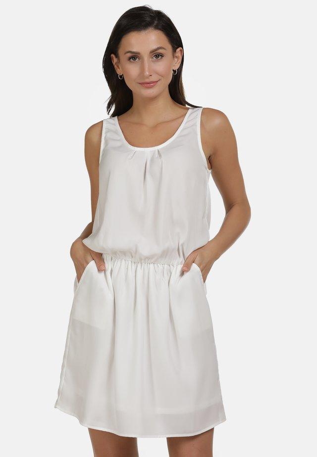 Korte jurk - woolen white