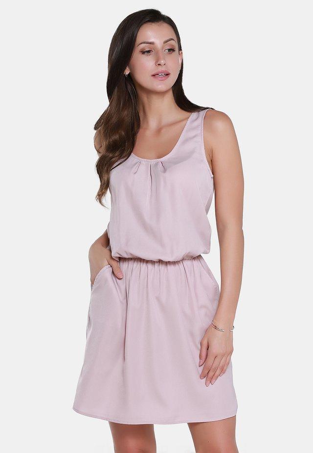 KLEID - Day dress - hellrosa gestreift