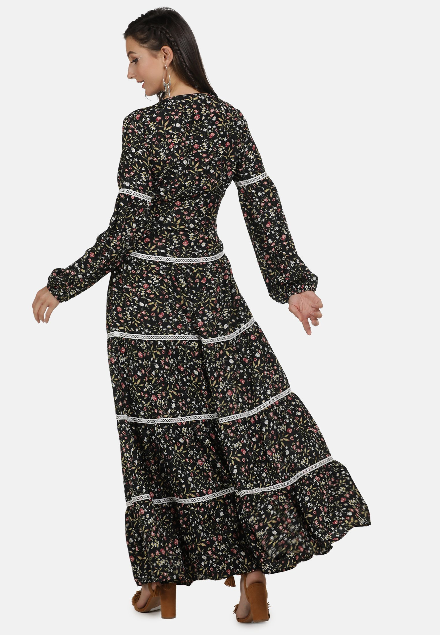 usha STUFENKLEID - Długa sukienka - multi-coloured
