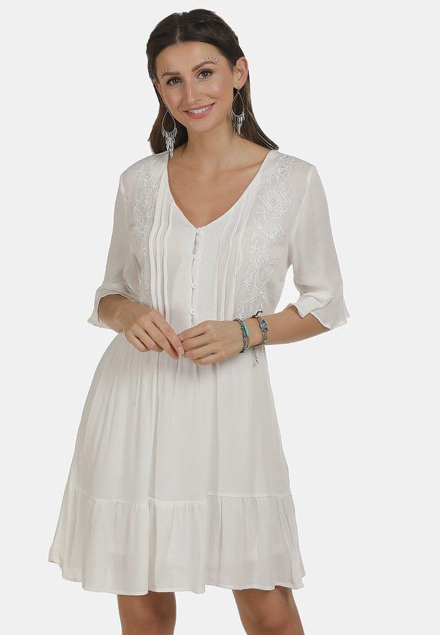 KLEID - Shirt dress - wollweiss