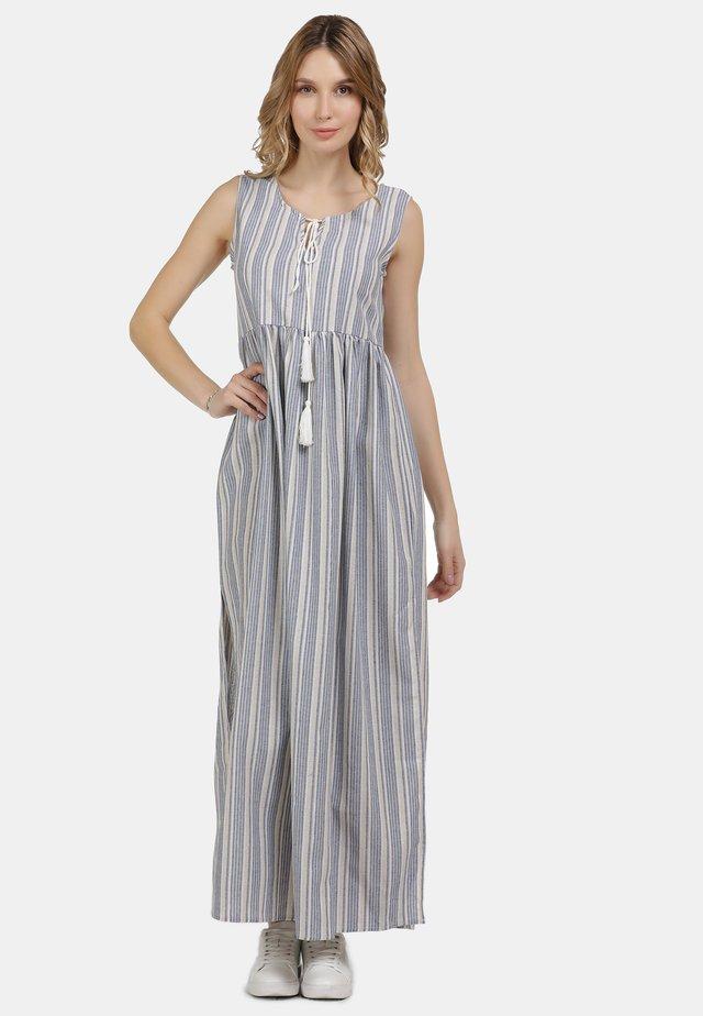 MAXIKLEID - Maxi-jurk - blau weiss gestreift