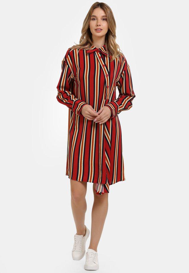 HEMDBLUSENKLEID - Shirt dress - multicolor gestreift