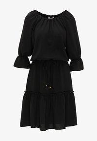 usha - BLUSENKLEID - Korte jurk - schwarz - 4