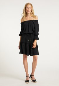 usha - BLUSENKLEID - Korte jurk - schwarz - 1