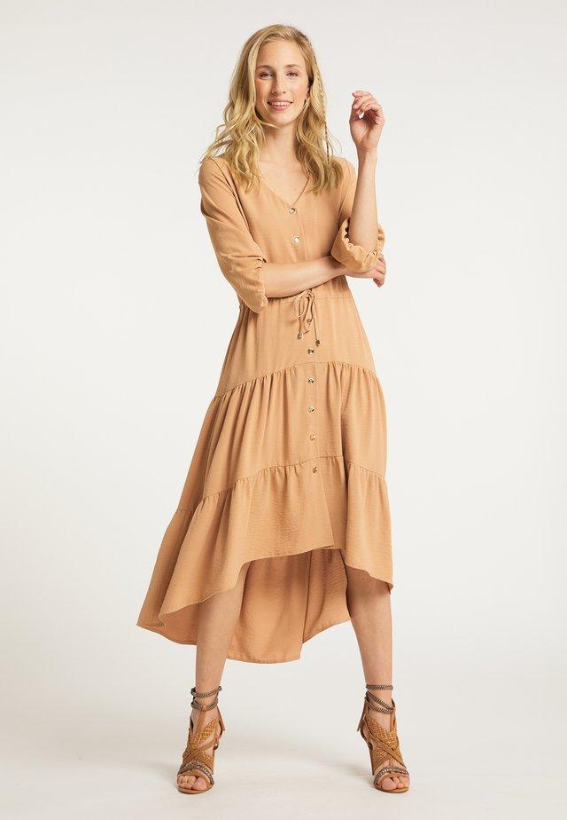BLUSENKLEID - Shirt dress - beige