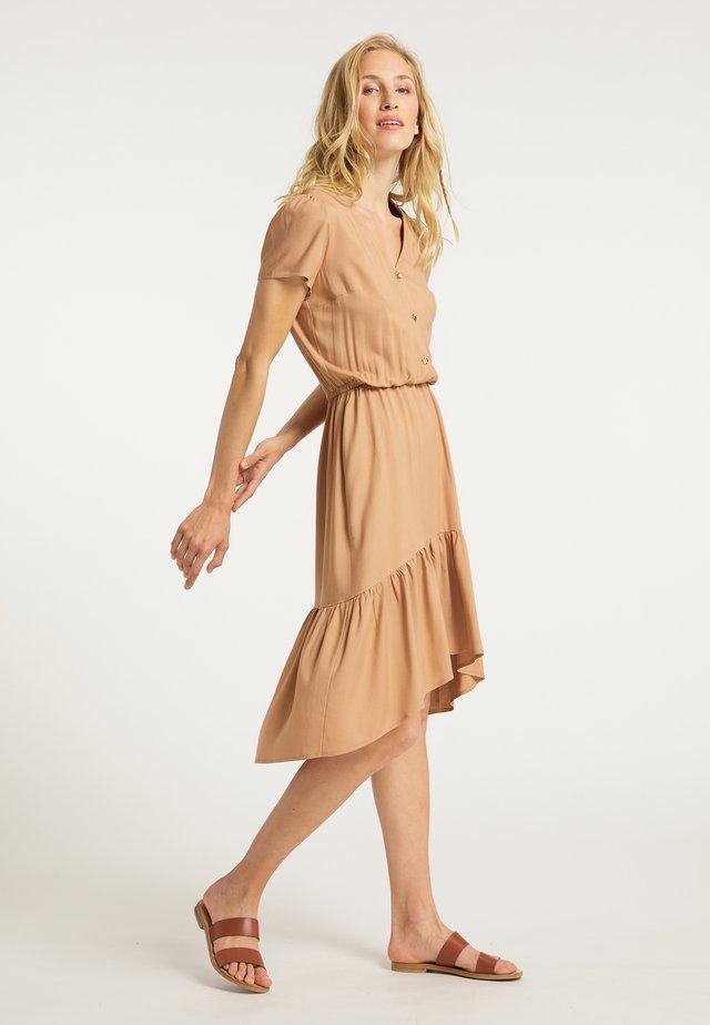 KLEID - Shirt dress - beige