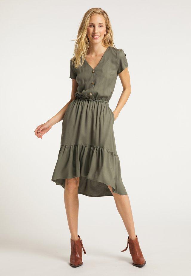 KLEID - Shirt dress - khaki