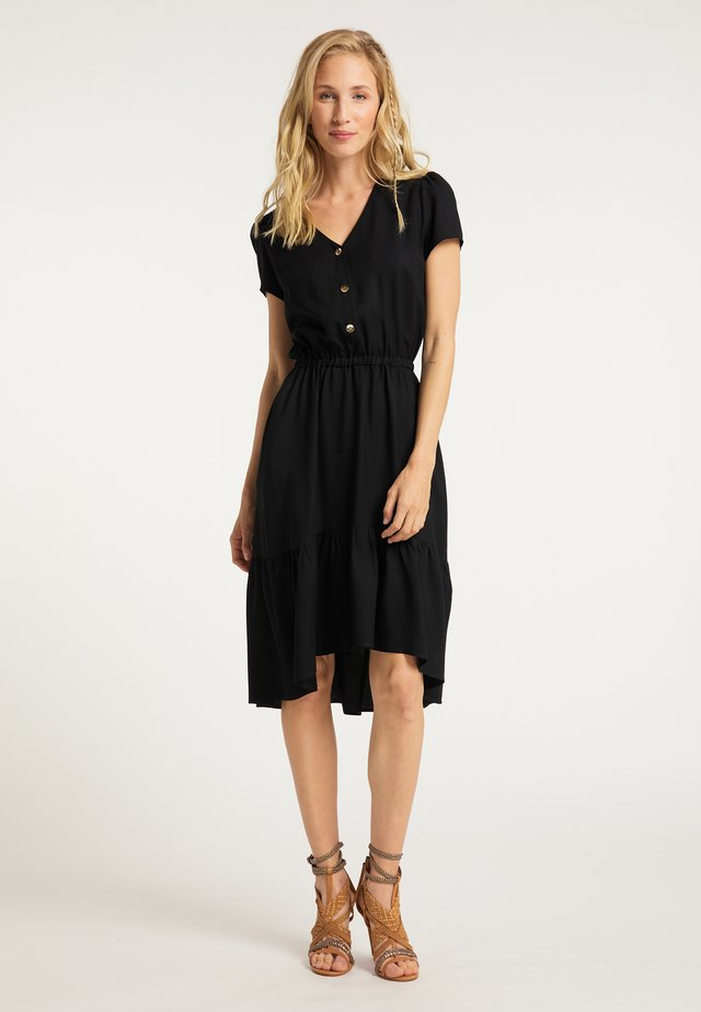 KLEID - Shirt dress - schwarz