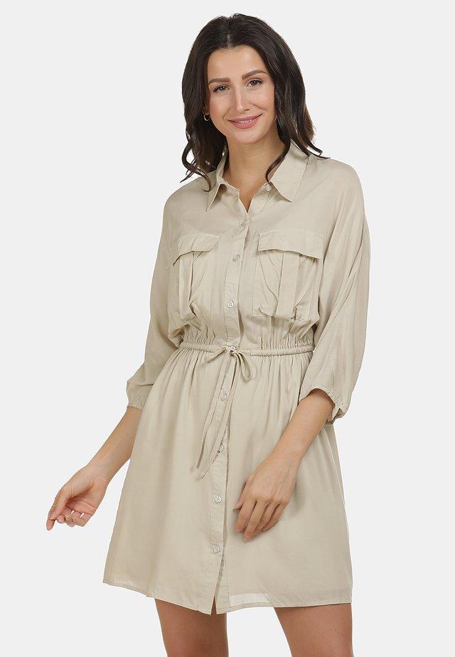 KLEID - Shirt dress - hellbeige