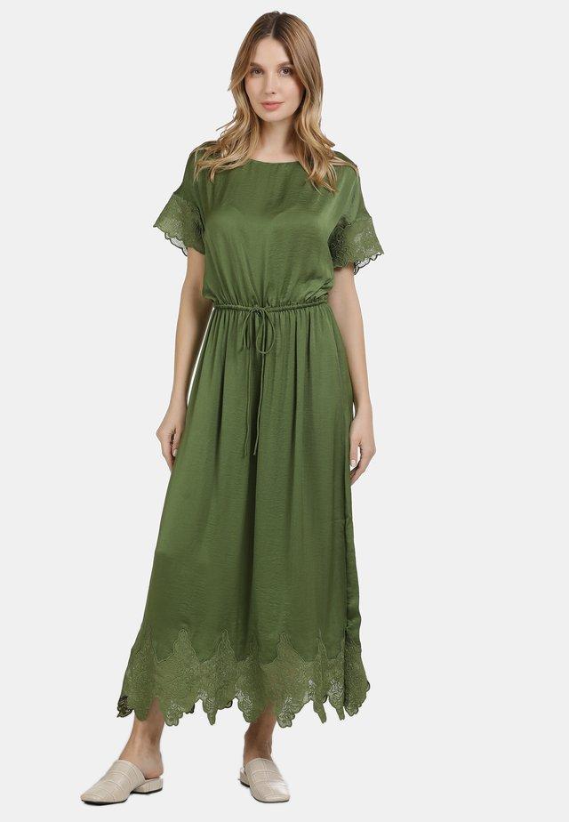 Maxi-jurk - oliv