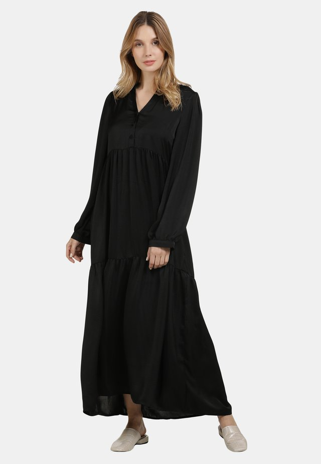 SATINKLEID - Maxi-jurk - schwarz