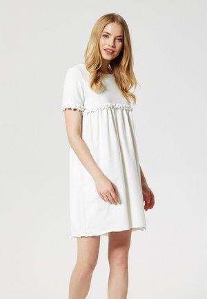 Jersey dress - ecru