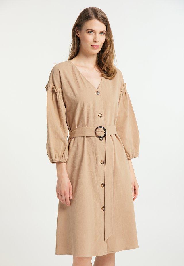 Shirt dress - kamel