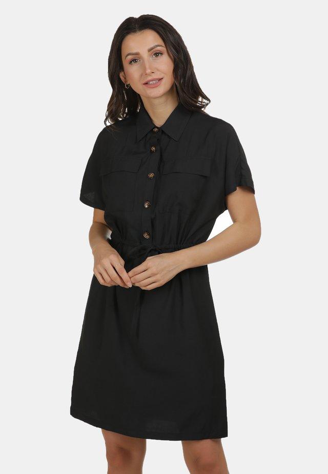 Skjortklänning - schwarz
