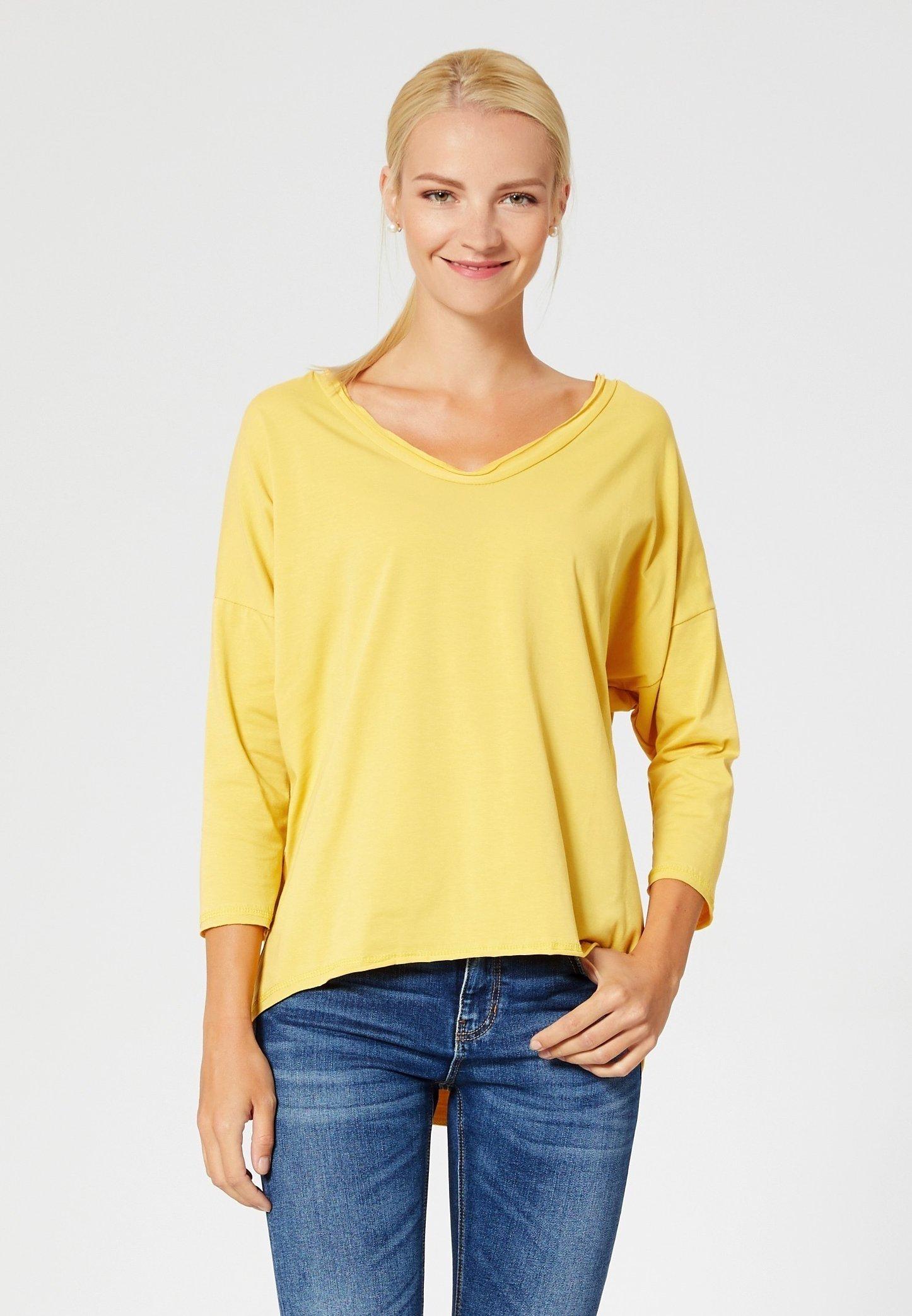 A Usha Manica Maglietta Lunga Yellow Nvm80wnO