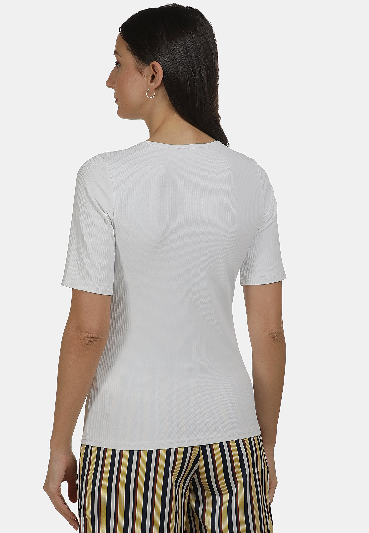 usha SHIRT - T-shirt basique - weiss - Tops & T-shirts Femme YktsJ