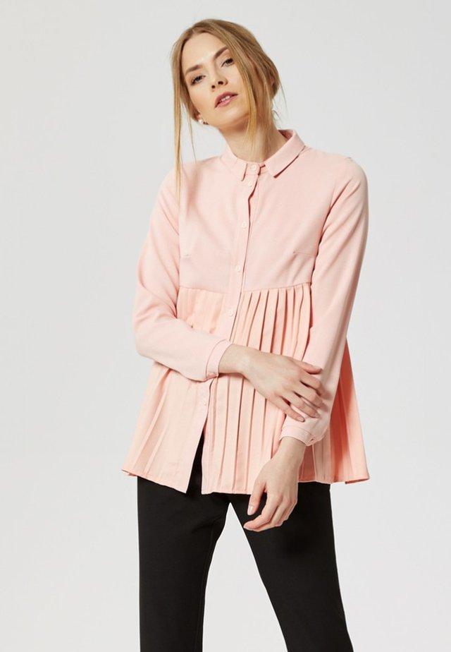 Button-down blouse - pastel pink