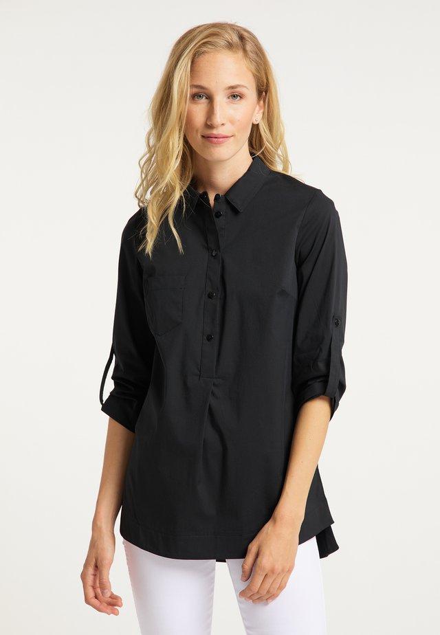 BLUSE - Button-down blouse - schwarz