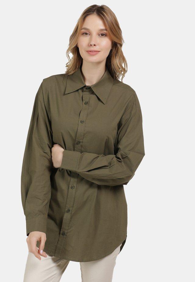 CHEMISIER - Button-down blouse - olive