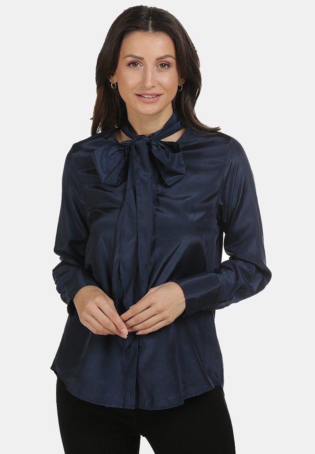 BLUSE - Button-down blouse - marine