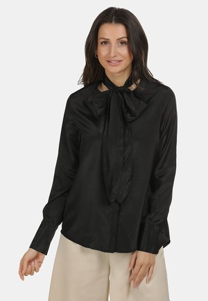 BLUSE - Button-down blouse - schwarz
