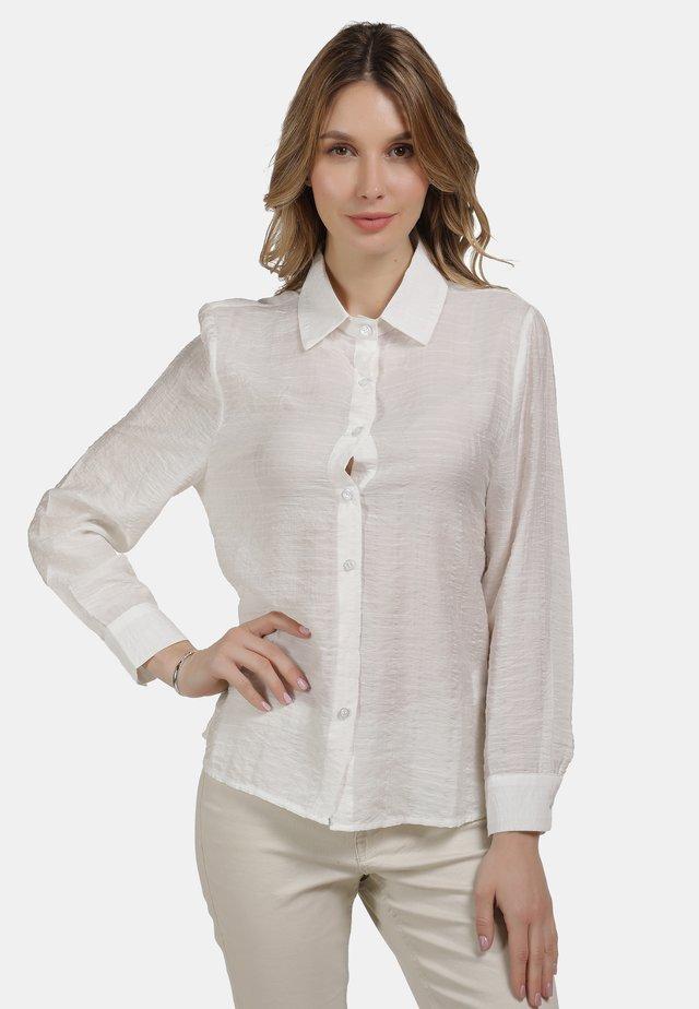 KLASSISCHE BLUSE - Button-down blouse - weiss