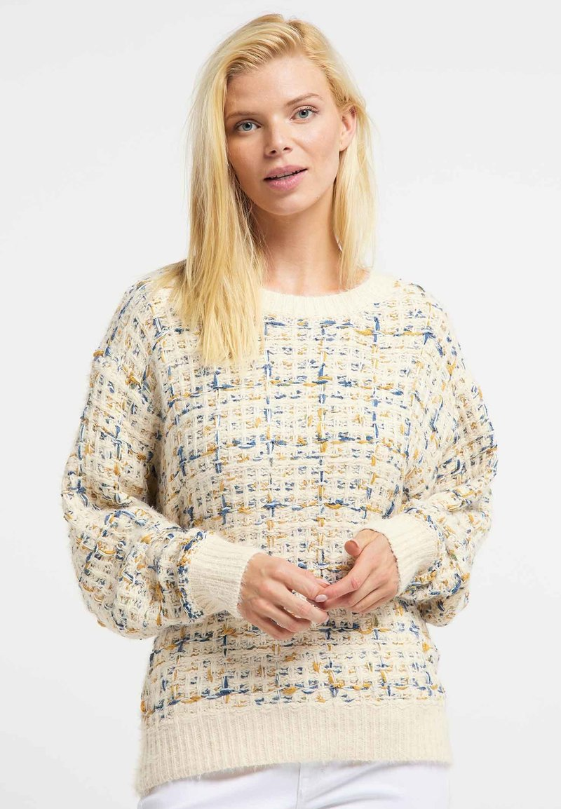 Usha - Jumper - beige/ yellow/ blue