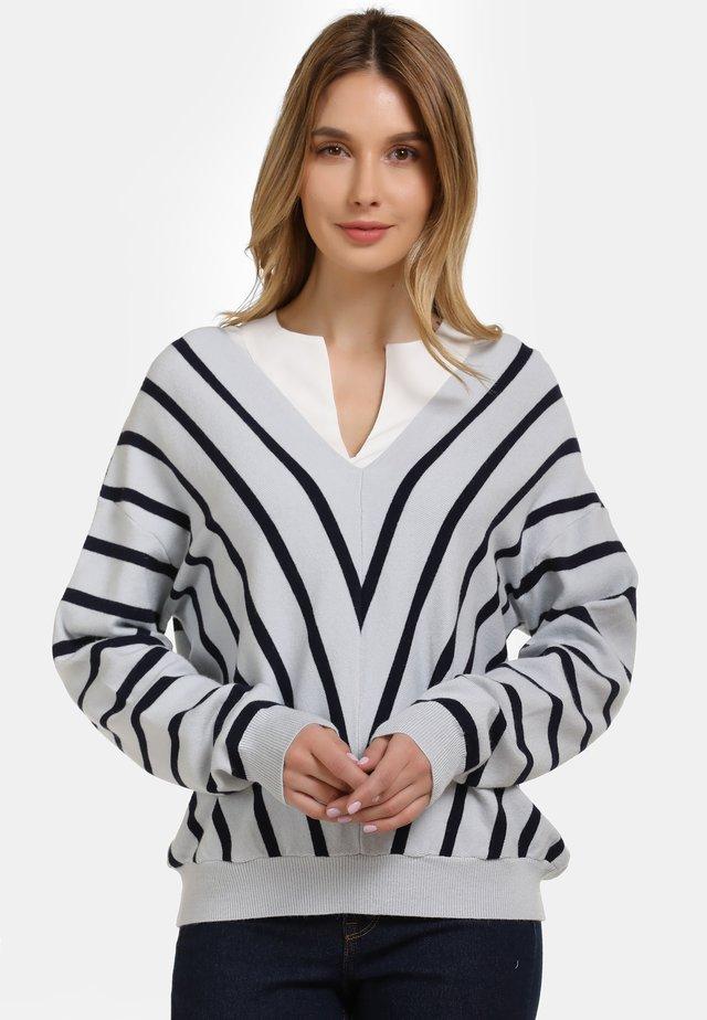 Sweter - light blue navy