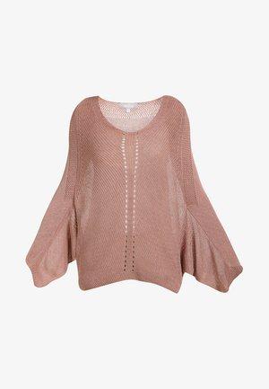 Stickad tröja - pink