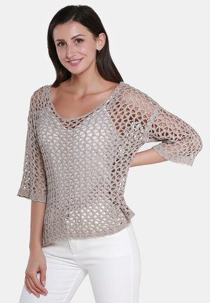 PULLOVER - Sweter - taupe