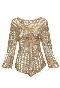 usha - PULLOVER - Stickad tröja - sand - 1