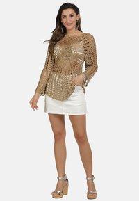 usha - PULLOVER - Stickad tröja - sand - 2