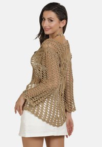 usha - PULLOVER - Stickad tröja - sand - 3