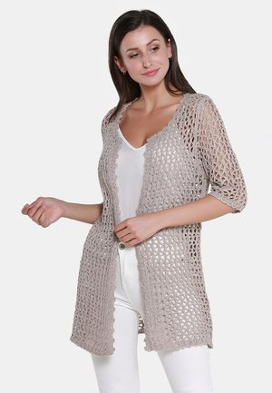 STRICKJACKE - Cardigan - taupe