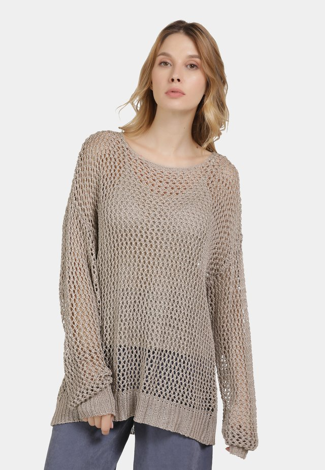 PULLOVER - Jersey de punto - taupe