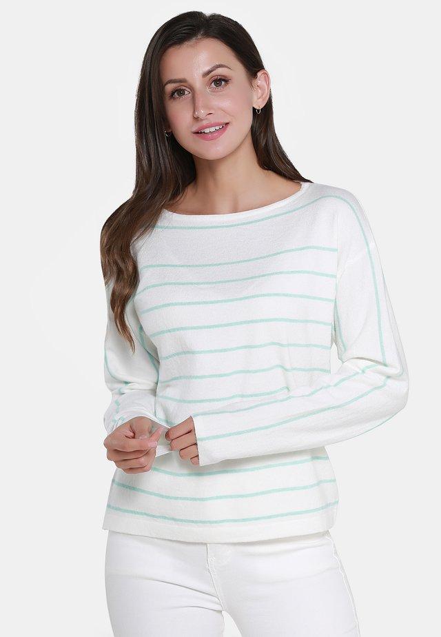 Jersey de punto - off-white mint