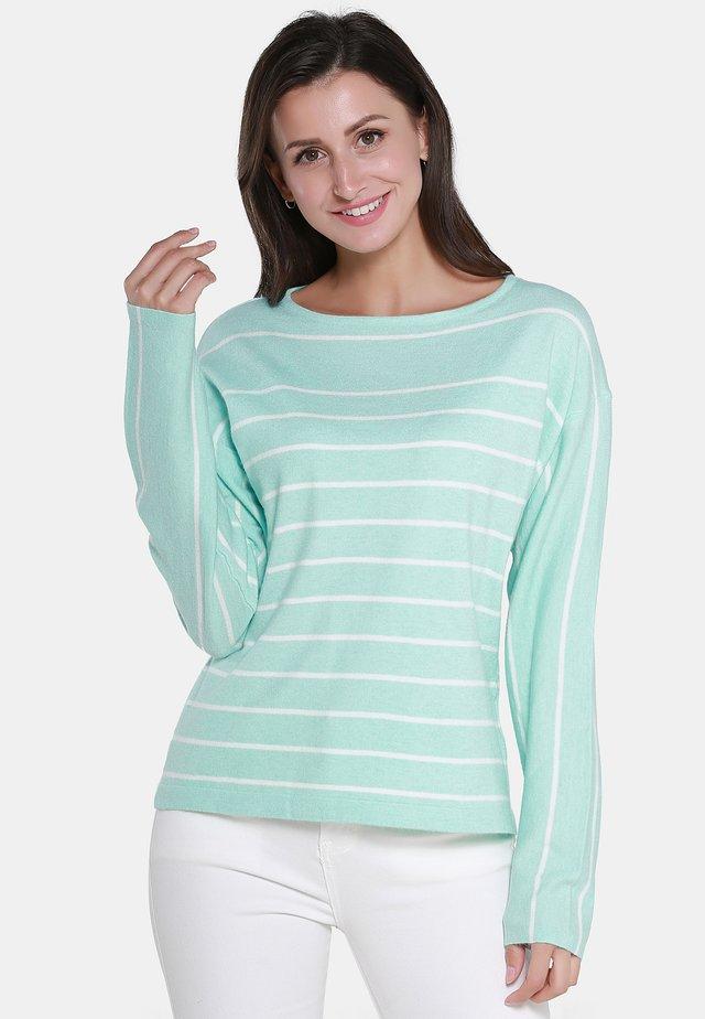 Jersey de punto - mint off-white