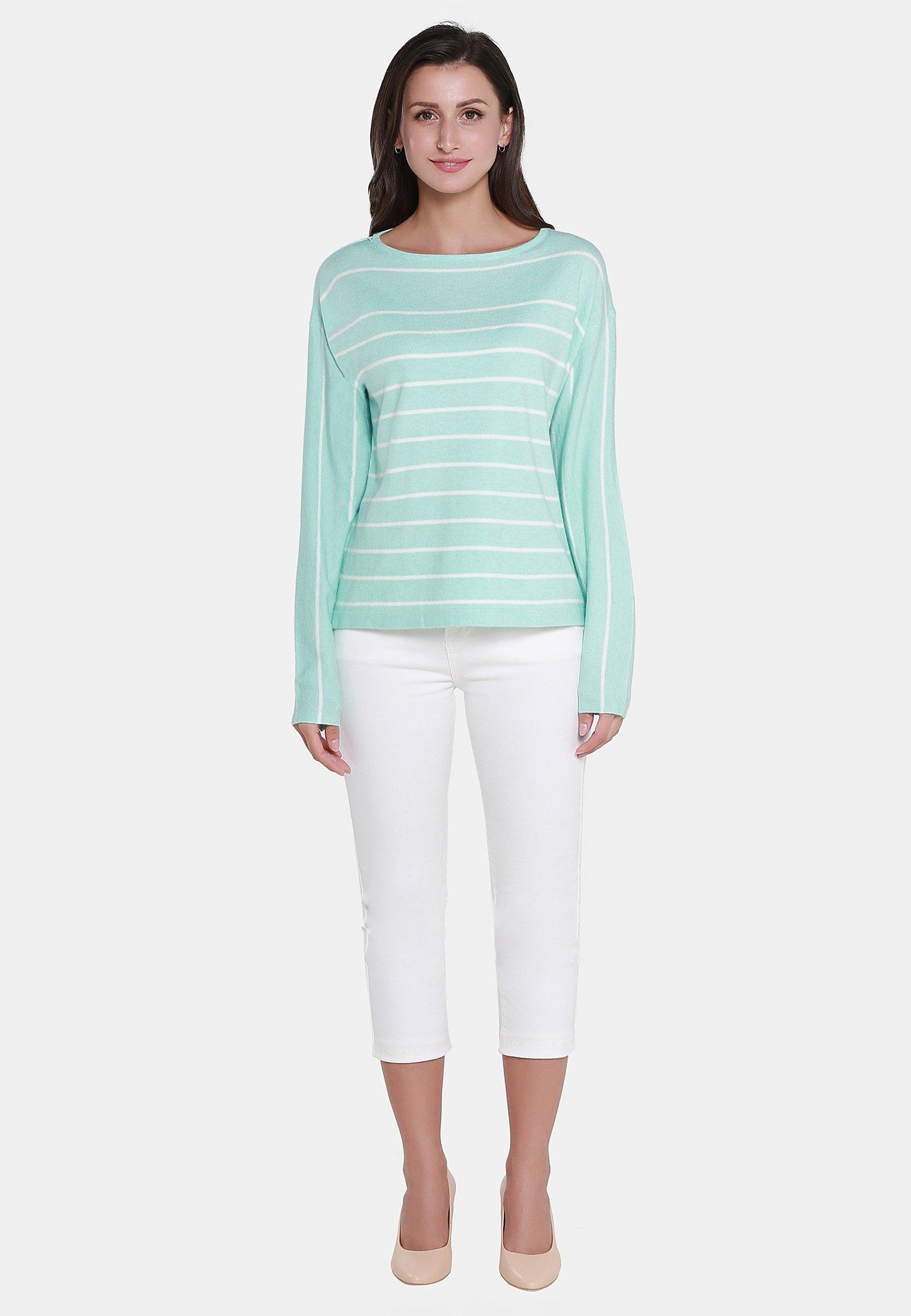 Usha Pullover - Mint Off-white Ed1Wgle