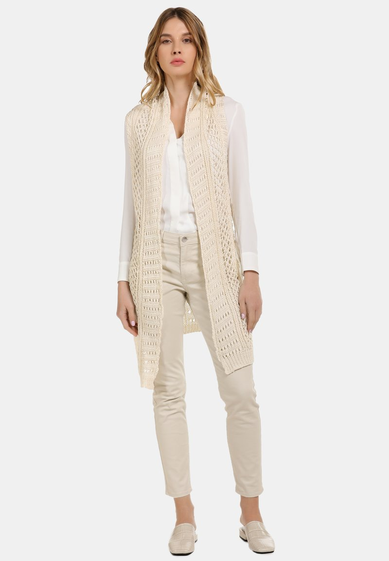 usha - LONGWESTE - Cardigan - woolen white