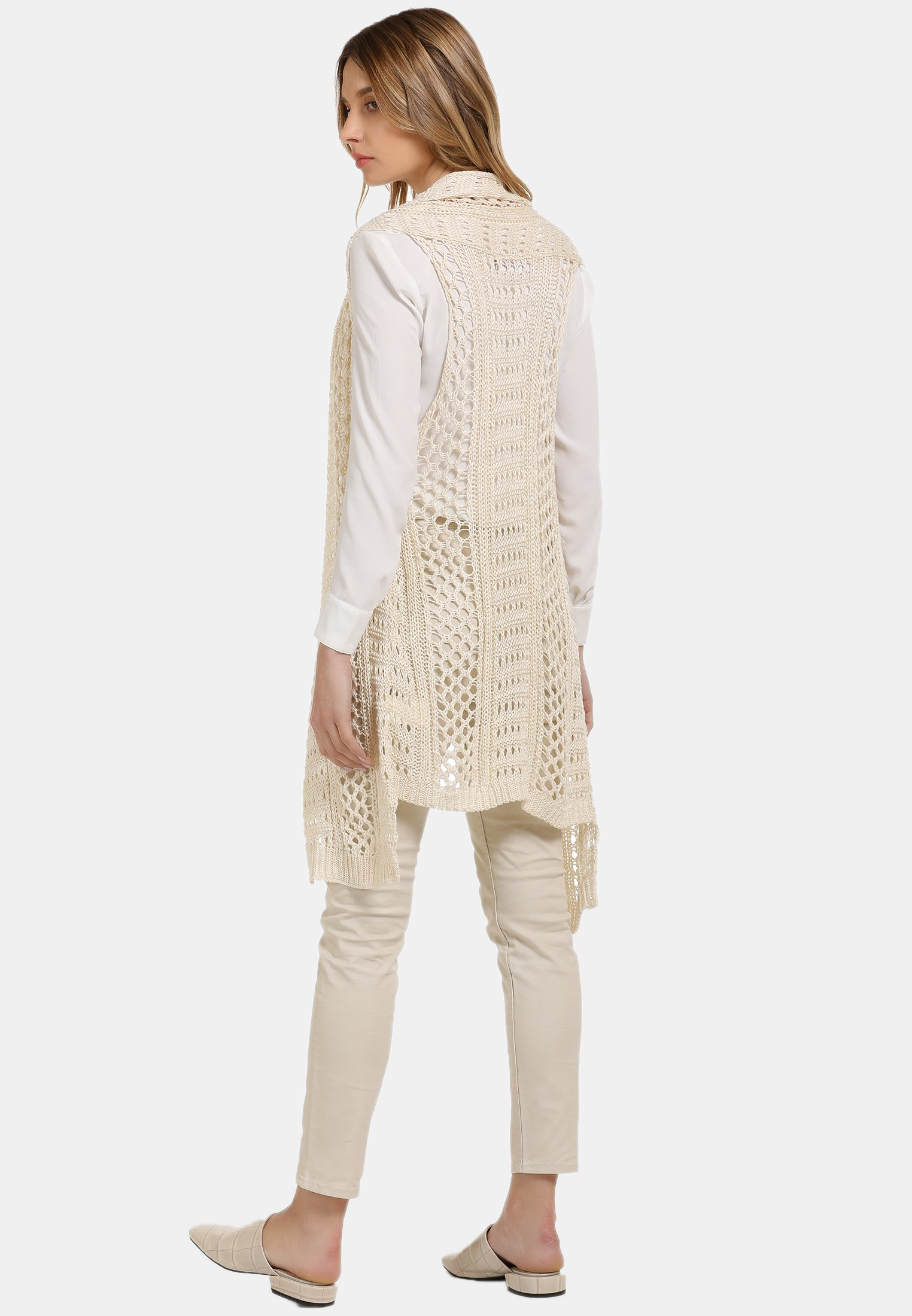 usha LONGWESTE - Kardigan - woolen white