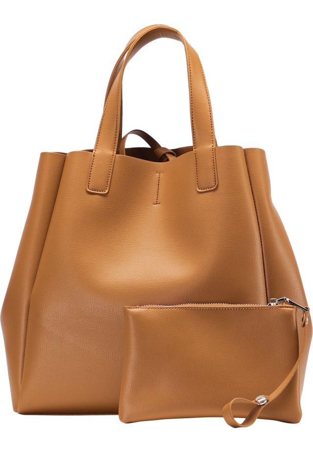 SHOPPER - Tote bag - cognac