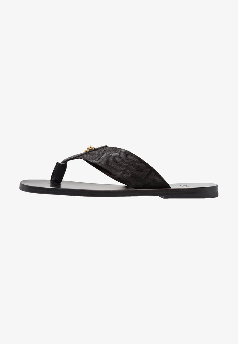 Versace - T-bar sandals - nero/oro caldo