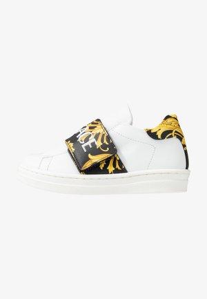 FASCIA STRAP - Sneakers laag - bianco/nero/oro