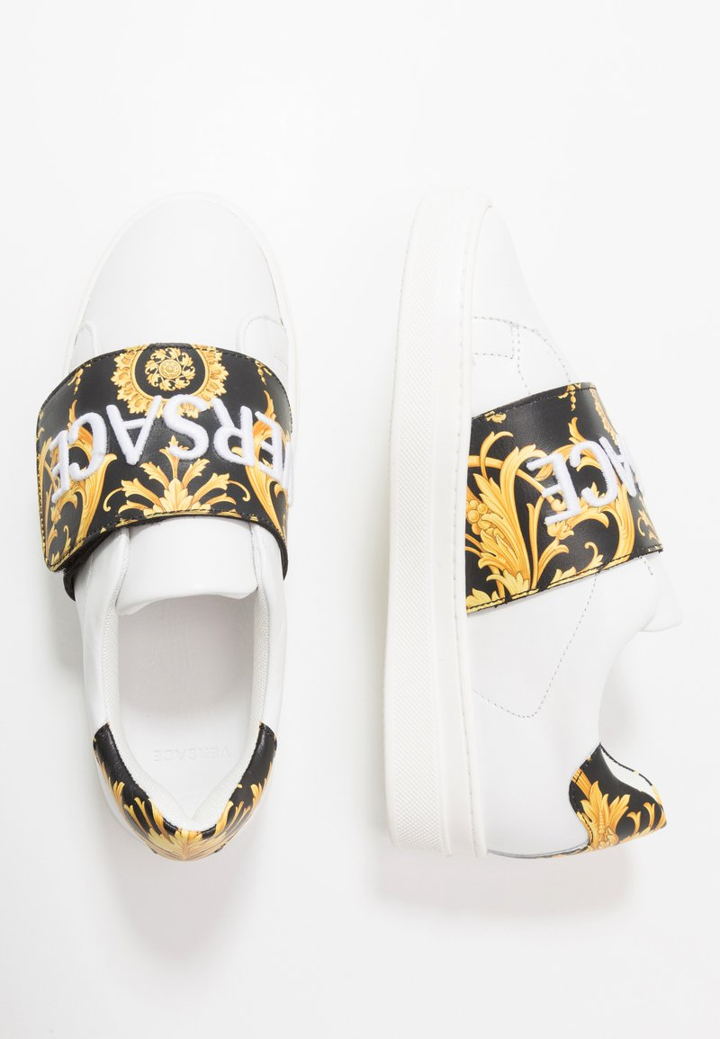 Versace - FLASH BAMBINO - Baskets basses - bianco/nero/oro