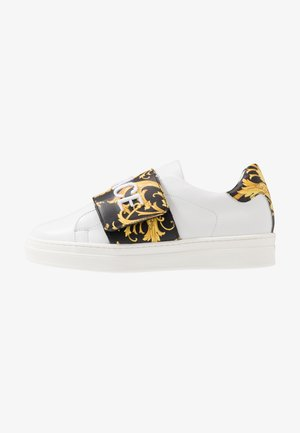 FLASH BAMBINO - Sneakersy niskie - bianco/nero/oro