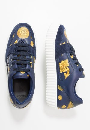 Baskets basses - blue navy/oro